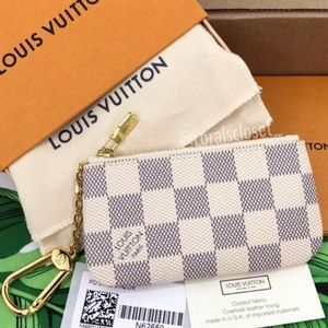 Auth Louis Vuitton NEW Damier Azur Cles Key Pouch